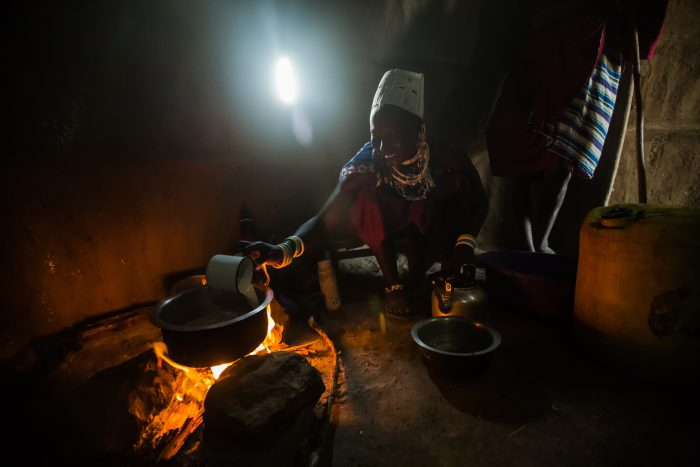 About half of the world's population, including 700 million people in Africa, depends on biomass fuel energy for everyday use. As these fuels are usually burnt indoors and in open fires that emit smoke into the household environment, they often lead to extreme levels of household air pollution.  Photo: Morgana Wingard/Flickr