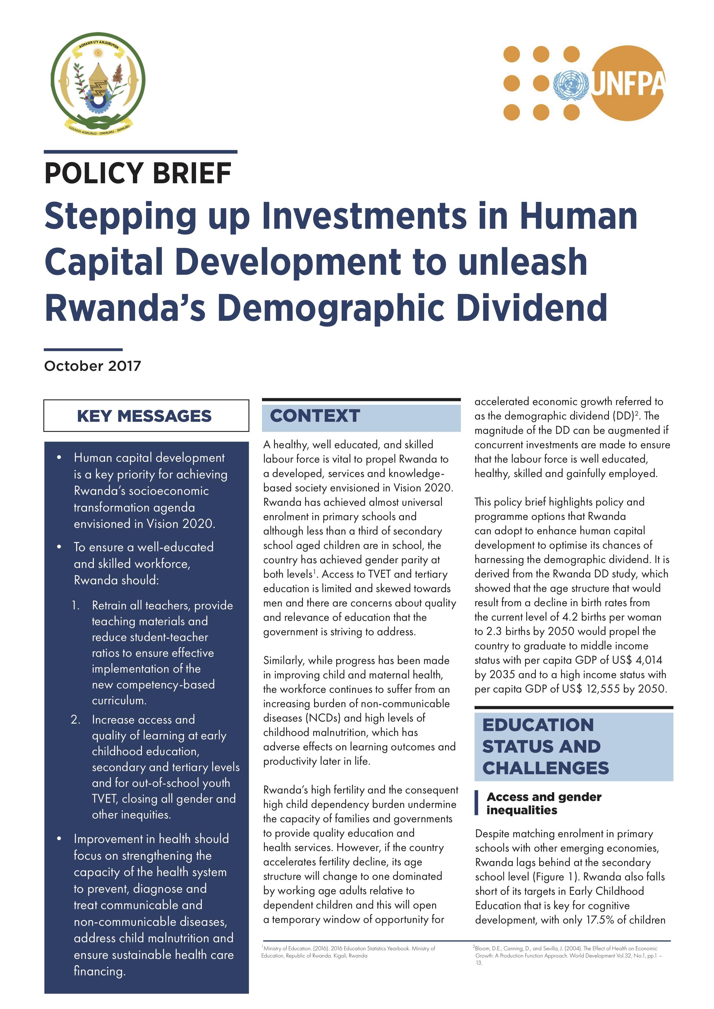 role of human capital in economic development